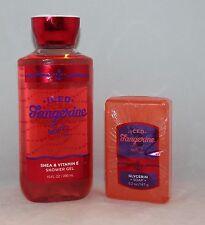 Bath & Body Works Iced Tangerine Mojito Shower Gel & Glycerin Soap Set