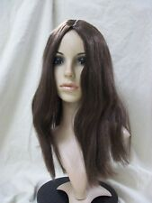 Brown Parted Star Style Wig Hippie 60s Unisex Mary 70s Rocker Wench Witch Wizard