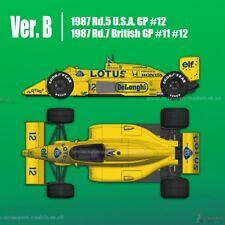1/12 1987 Camel Lotus 99 T Honda a Senna full détail Multi Media Model Kit MFH