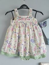 💕Baby Girls Monsoon Dress And Matching Knickers Summer Floral 12 - 18 Months