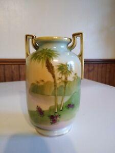 Nippon Morimura Vase with Palm Trees