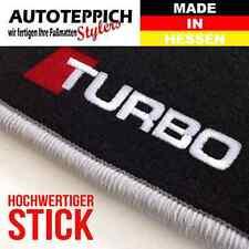 FUßMATTEN STICK /TURBO seitlich PASSEND FÜR VW Golf 1 Cabrio Bj.79-93
