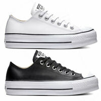 Converse Chuck Taylor All Star Lift Clean OX Leather Damen-Sneaker Turnschuhe
