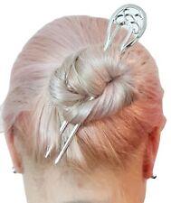 Metal Hair Fork Hair Pin Hair Pick Round Top Clip Hair U Shape Silver Hair Comb