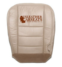 03 - Ford F250 F350 Lariat - Driver Side Bottom Leather Seat Cover - Tan