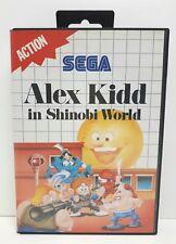 Alex Kid en Shinobi World SEGA Master sistema Juego (SMS) completo PAL Reino Unido