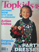 TOPKIDS No.48 - TOP KIDS Uncut Patterns On Staples for Tots to Teens - VGC