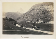 Suisse, Zermatt, Vue générale sur les Montagnes  Vintage albumin print Tir