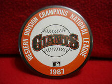 MLB San Francisco Giants 1987 West Division Champions National League Pin Button