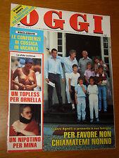 OGGI=1986/35=GIANNI AGNELLI=MICHELE PLACIDO=MASSIMO BOGIANCKINO=IRA FURSTENBERG=