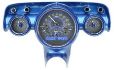 1957 Chevy Bel Air 210 Carbon Fiber & Blue Dakota Digital VHX Analog Gauge Kit