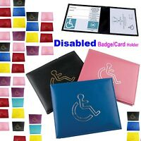 DISABLE BADGE COVER HOLDER PROTECTOR DISPLAY COVER FOR BLUE BADGE PARKING-dsable