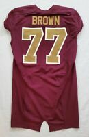 #77 Brown of Washington Redskins NFL Locker Room Game Issued Alternate Jersey