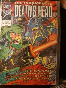 The Incomplete Death's Head #3 of 12 Rare Mar 1992 Marvel Uk with Death's Head 2