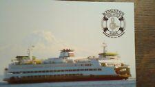 BEAUTIFUL MARK 4 CLASS SHIP KINGSTON WASHINGTON PUGET SOUND FERRIES POST CARD