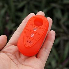 Red Rubber key fob skin holder for Alfa Romeo 4C Mito Giulietta 159 GTO GTA