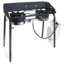 Camp Chef Explorer 2-Burner Stove - 3-Sided Windscreen & Removable Legs