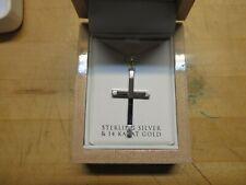 Cross & chain Msrp $269.00 Krementz Sterling Silver &14Kt Gold