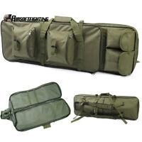"85cm/33"" Tactical Dual Rifle Gun Bag Carrying Case Heavy Duty w/ Shoulder Strap"
