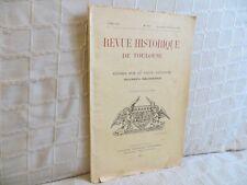 Revue historique de Toulouse études sur le vieux Toulouse 1935  Languedoc