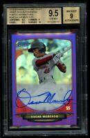 2013 Bowman Chrome Oscar Mercado Rookie /10 Purple Refractor BGS 9.5 Auto 9 RC