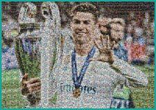 Cristiano Ronaldo Poster Large A1 Photo Mosaic of Legend (made of tiny CR7 photo