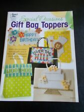 Special Occasions Gift Bag Toppers Plastic Canvas Leaflet ~ Annie's Attic ~ 2012