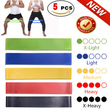 Gym Resistance Bands Loop Set For Gym Exercise Yoga Strength Workout Fitness USA