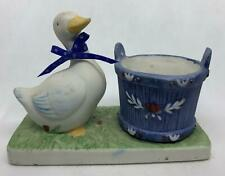Little Luvkins Porcelain Candle Holder Jasco Taiwan Votive Mother Goose 1987