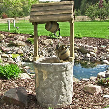 "SUNNYDAZE AMERICAN WISHING WELL OUTDOOR FOUNTAIN FIBERGLASS 49"" RECIRCULATING"