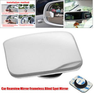 1×Infinity Car Rearview Mirror Frameless Blind Spot Auxiliary Mirror Wide-angle