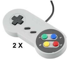 2x Super USB Controller Nintendo SNES GAME PAD For PC Raspberry Pi 3 Retro X7U