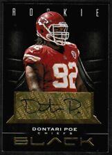 2012 Panini Black Rookie Signature Gold #133 Dontari Poe RC Auto /99 (ref 21336)