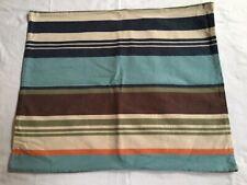 Pottery Barn Teen Shoreline Cotton Canvas Striped Cabana / Cottage Pillow Sham