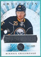 2012-13 Artifacts Rookie card # RED201 of Mikhail Grigorenko