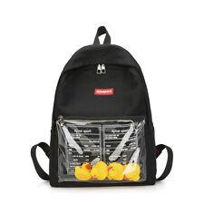 Clear Transparent Women Backpack Cute School Bags Girl Travel Bag Cartoon Print