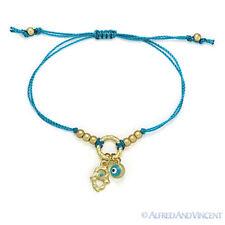 Evil Eye Turkish Greek Hamsa Hand of Fatima Judaica Kabbalah Luck Charm Bracelet