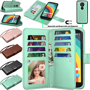 For Motorola Moto E5/Play/Plus/Cruise/Supra Wallet Flip Leather Card Holder Case