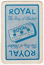 Playing Cards 1 Swap Card Vintage Advertising ROYAL Razor Blades Barber Shaving