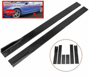 78.7inch Universal Side Skirt Extensions Rocker Panel Splitters Lip Polypropylen