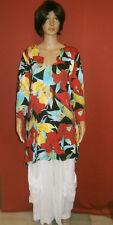 Ophilia: traumhaftes Longshirt Farbfeuerwerk A-Linie Blüten Gr. 5 (50 - 52)