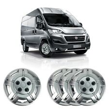 """4 X 16"""" SOLID SILVER UNBREAKABLE WHEEL TRIM COVER FITS FIAT DUCATO"""