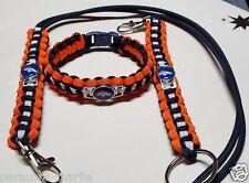 Denver Broncos Handmade Paracord Bracelet, Lanyard & Deluxe Key Chain Combo Set