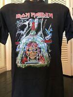 VTG 80's Iron Maiden Aces Tour Shirt Sz M/L Rock Morbid Priest Metal Slayer Crue