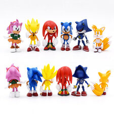 6PCS Set Sonic The Hedgehog PVC Sonic Action Figure Gift Kids Toy Collection