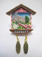 Zermatt Aimant Cervin Avec Pomme de Pin Poly Souvenir Suisse (1240)