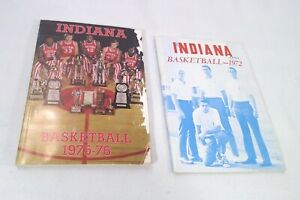 Indiana Hoosiers Basketball Media Press Guide Yearbooks 1971-72 1975-76 Knight