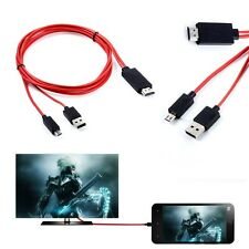 MHL Micro USB HDMI TV Adapter Cable For Samsung SM-G900M SM-G900T SM-G900V Phone