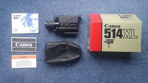 CANON 514XL Super 8 film camera 1980 in original box with leather carry case