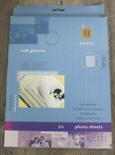 20 Henzo Fotokarton Einlageblätter weiß mit Pergamin Neu OVP